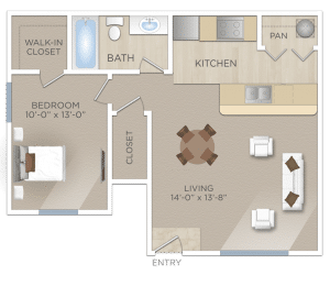 One Bedroom Apartment in NORTHWEST SAN ANTONIO