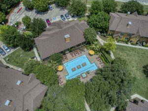 2 Bedroom Apartments for rent in San Antonio, TX - Aerial View Pool & Clubhouse
