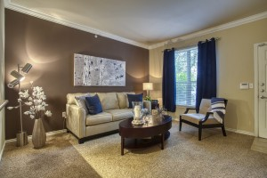One Bedroom Apartments for rent in San Antonio, TX - Model Living Room